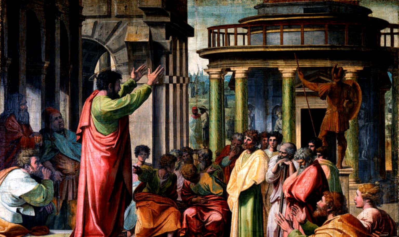 V&A_-_Raphael,_St_Paul_Preaching_in_Athens_(1515)-1